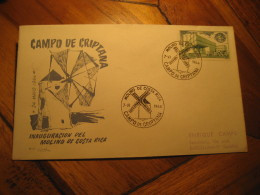 Molino De Costa Rica CAMPO DE CRIPTANA Ciudad Real 1964 Windmill Cancel Cover SPAIN Mill Mills Moulin A Vent Moulins - Windmills