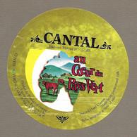 ETIQUETTE De FROMAGE.. CANTAL.. Au Coeur Du Pays Vert.. CENTRE AUVERGNE à AURILLAC (15) - Cheese