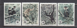Vietnam 1987 - WWF: Monkeys, Mi-Nr. 1827/30, Used - Vietnam