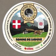 ETIQUETTE De FROMAGE.. TOMME De SAVOIE.. S.A. Fromagerie POCHAT Et Fils à ANNECY Le VIEUX (74).. STOC Supermarché - Cheese