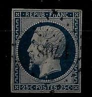 France N°10a Bleu Très Foncé. Cote 80€. - 1852 Luis-Napoléon