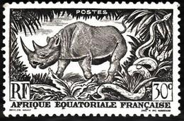 AFRIQUE EQUATORIALE FRANCAISE - RHINOCEROS - Unused Stamps