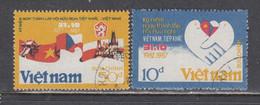 Vietnam 1987 - 10 Years Of Cooperation Between Vietnam And The CSSR, Mi-nr. 1844/45, Used - Vietnam