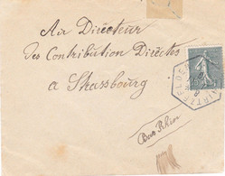 Obl Provisoire Hexagonale Hirtzfelden 1/11/1919 (agence Postale Haut-Rhin) - Alsace Lorraine