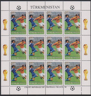 Soccer World Cup 1998 - TURKMENISTAN - S/S Perf. MNH - 1998 – Francia