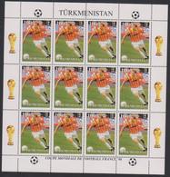 Soccer World Cup 1998 - TURKMENISTAN - Sheet MNH - 1998 – Francia