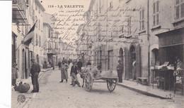 La Valette, Attelage, Ane Et Personnages, Rare - La Valette Du Var