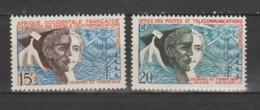 A O F  1958  N°66 + 75  Neuf X X - Unused Stamps