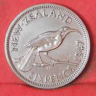 NEW ZEALAND 6 PENCES 1947 -    KM# 8a - (Nº39680) - Nuova Zelanda