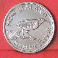 NEW ZEALAND 6 PENCES 1948 -    KM# 16 - (Nº39681) - Nuova Zelanda
