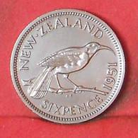 NEW ZEALAND 6 PENCES 1951 -    KM# 16 - (Nº39682) - Nuova Zelanda