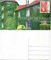 Domaine De La Boisserie, Hommage Au Général De Gaulle, Andorra Maxi-card (Visite En Principauté) - De Gaulle (Generaal)