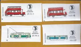 4 Barcelona Transport Tickets. Centennial Series. 4 Vervoerbewijzen Voor Barcelona. Centennial-serie. 4 Vervoerbewijzen - Europe