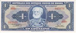 BILLETE DE BRASIL DE 1 CRUZEIRO DEL AÑO 1955 SIN CIRCULAR (UNCIRCULATED) (BANK NOTE) - Brazil