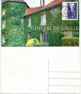 Domaine De La Boisserie, Hommage Au Général De Gaulle, Andorra Maxi-card (Visite En Principauté Octobre 1967) - Brieven En Documenten