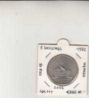 Uganda - Bank Of Uganda - Five Schillings 1972 Rara Qfd - Uganda