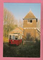 C.P. Burdinne = Tramway  Touristique De L' AISNE   Autorail ART 50  Devant  Le  Château  D' Eau   Au Dépot - Burdinne