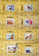 Olympiade 1996 Atlanta Mongolei 8 Blocks A-I257+Bl.258 25€ Boxen HürdenlaufRad-Sport Blocs Olympic Sheets Mongolia - Mongolia
