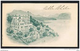 LUZERN LUCERNE - VILLA RHATIA - SUISSE SWITZERLAND ( 2 SCANS ) - LU Lucerne