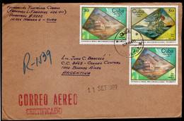 Cuba - 1989 - Lettre - Envoyé En Argentina - A1RR2 - Cartas