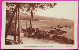 Cpa Les Rochers De Saint Clair Proche Lavandou St 1927 Carte Postale 83 Var Peu Courante - Le Lavandou