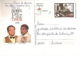 Portugal ** & Postal Stationary, Timor, Nobel Da Paz, José Horta E Ximenes Belo, Lisboa 1996 (87) - Altri