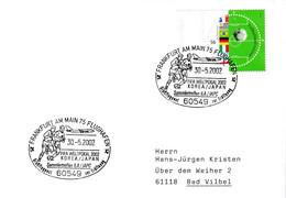 Germany 2002 Cover; Football Fussball Soccer Calcio; Fifa World Cup 2002; Frankfurt Cancellation; World Champions Stamp - 2002 – Corea Del Sur / Japón