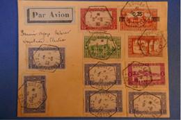 F3 ALGERIE BELLE LETTRE 1939 PREMIER VOL CONSTANTINE AOULEF + CACHETS OCTOGONAUX+ SURCHARGE+ AFFRANCH PLAISANT - Brieven En Documenten