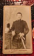 Photo 1900 Militaire Cdv Versailles 78 - Guerra, Militari