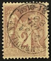 YT 85 1877-80 SAGE CaD Rambouillet Seine-et-Oise 31.7.1889 (type II) 2c Brun Rouge – Laphil - 1876-1898 Sage (Type II)