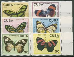 Kuba 1989 Insekten Schmetterlinge 3265/70 Rand Postfrisch - Neufs