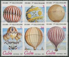 Kuba 1983 Luftfahrt Ballonfahrt 2725/30 Postfrisch - Neufs