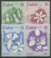 Kuba 1983 Freimarken Blüten 2810/13 Postfrisch - Neufs