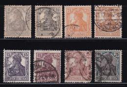 ALEMANIA IMPERIO 1916-19  Serie Completa Usada Yvert Nº 96/103 - Gebruikt