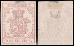 DEPENDENCIAS ESPAÑOLAS 1867 S. Fiscal (DOCUMs DE POLICIA) 102 Esc Carm√≠n S.Lila - Cuba (1874-1898)