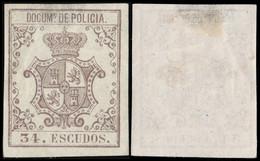 DEPENDENCIAS ESPAÑOLAS 1867 S. Fiscal (DOCUMs DE POLICIA) 34 Esc Violeta S. Lila - Cuba (1874-1898)