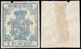 DEPENDENCIAS ESPAÑOLAS 1867 Sello Fiscal (DOCUMs DE POLICIA) 1.50 Escudo Azul - Cuba (1874-1898)