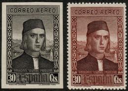 ESPAGNE / SPAIN / ESPAÑA 1930 Ed.553/Mi.524 Ensayo De Plancha En Negro Con Sello Normal - Nuovi