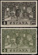 ESPAGNE / SPAIN / ESPAÑA 1930 Ed.557/Mi.528 Ensayo De Plancha En Negro Con Sello Normal - Nuovi