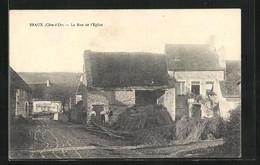 Braux, La Rue De L'Eglise TRES RARE - Altri Comuni