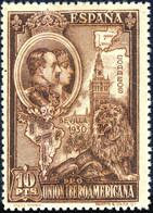 ESPAGNE / SPAIN / ESPAÑA 1930 Ed.581/Mi.552C 10Pts Line-engraved * - Ongebruikt