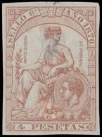 ESPAGNE / SPAIN / ESPAÑA Fiscales 1876 - Póliza Sello 6° 4 Pts - (faults) - Fiscales