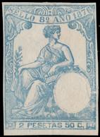 ESPAGNE / SPAIN / ESPAÑA Fiscales 1876 - Póliza Sello 8° 2.50 Pts Efigie En Seco - Fiscales
