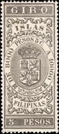 PHILIPPINES / FILIPINAS - Sello Fiscal (GIRO) 5P Castaño Nuevo** - Philippines