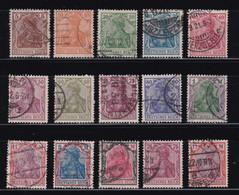 ALEMANIA IMPERIO 1920-22  Serie Completa Usada Yvert Nº 119/133 - Gebruikt