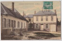 CPA Plessier Rozainvillers (80) LA Mairie  Belle Carte Toilée Colorisée   Rare   Ed Taranne - Other Municipalities