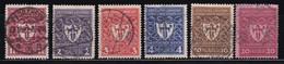 ALEMANIA IMPERIO 1922 -  Serie Completa Usada Yvert Nº 214/219 - Gebruikt