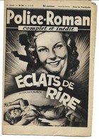 "Police-Roman N°54 Du 05.05.1939 ""Eclats De Rire""  Maurice AUBYN (S.P.E) Simenon - Simenon"