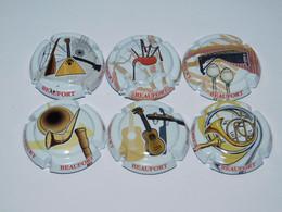 Série De 6 Capsules De Champagne  - CLERGEOT DANIEL N°31.m Au 31.r - Collections