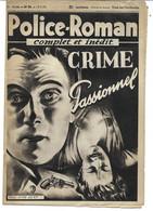 """Police-Roman N°56 Du 19.05.1939 """"Crime Passionnel""""  Jean BERT (S.P.E) Simenon - Simenon"""
